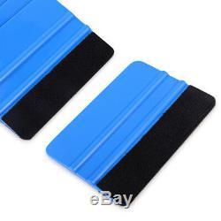 100 Pcs 4 Blue Squeegee Felt Tape Vinyl Wraps Applicator Tools Window Tint FAST