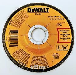 (100-pack) DEWALT DWA4531 DWA4531B5 4-1/2 x. 045 x 7/8 T27 Cut-Off Wheels