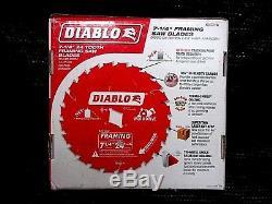 10Pcs Diablo D0724W 7 1/4 24T 5/8Arbor Framing Saw Blades Wormdrive BNIB