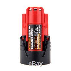 10X 12V 2000mAh Battery for Milwaukee M12 C12 BX C12 B 48-11-2402 48-11-2401