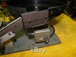 11 inch Vibratory Parts Feeder Bowl Feeder small parts spiral black rubber 120 v