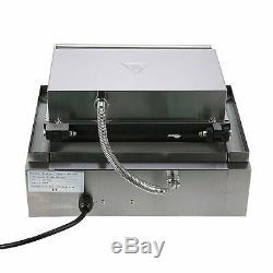 110V 1500W Hot Dog Machine Heavy Duty& Stainless Crispy 6 Grid Food Process FAST