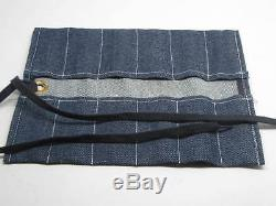 12 Silversmith Goldsmith Chasing Repousse Tools RAMELSON USA 107 Denim Pouch