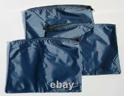 140 Dark Blue Water-Resistant Make-up Tool Organizer Bag Lot