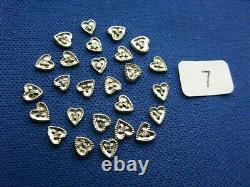 14K White Gold Heart Illusion Top Die Struck Settings for 0.01ct Stone (#7)