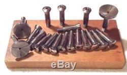 18 VINTAGE (8mm. /ww) WHITCOMB WATCHMAKER'S LATHE COLLETS