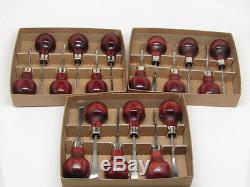18pc Woodcarving Tools Gunsmith Palm Gouges Chisels Parting Veiner RAMELSON USA