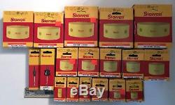 19 PC WHOLESALE LOT STARRETT BI METAL HOLE SAW KIT SET 3/4 TO 4-3/4 With ARBORS