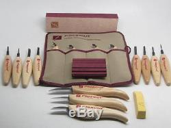 19pc Flexcut Micro Chisel, Skew, Strop, Knives Scorps Woodcarving Tools