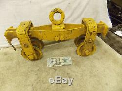 1Ton OverHead Hoist Trolley 3-3/8 Straight or Curved 2000 lb. 4 wheels 14 Lg