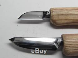 2 Deepwoods Woodcarving Tools Knives Detail & Roughout Decoy Caricature