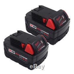 2 Pack 18V 5000mAh Battery for Milwaukee M18 XC 48-11-1815 Li18 2601 2620-20