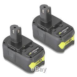 2 Pcs 18V 5000mAh Li-Ion Battery For Ryobi Hot P100 P102 P103 P105 BPL1820 5.0Ah