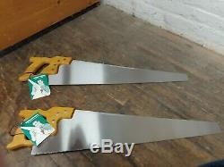 2 Vintage New Old Stock Disston D-23 Hand Saws in Original Box Rare Never Used