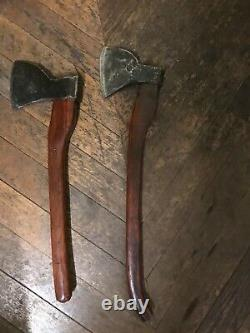 2 Vintage axes by reuset Saut du Tarn antique french tool