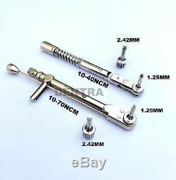 2 x Dental implant Torque Wrench Ratchet 10-70ncm & 10-40ncm Dentist Tools