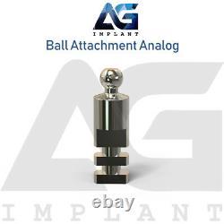 20 Ball Attachment Analog Platform Titanium Dental 15.1mm Laboratory Tool