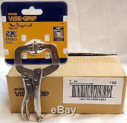 (20-PK) Irwin Vise-Grip 4SP 165 4 Locking C-Clamp with swivel pads