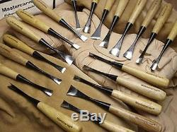 20pc Mastercarver Sculpture Wood Carving Tools Set withCanvas Roll