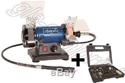 230v Mini Bench Grinder-polisher With Flexible Shaft Accessory Scheppach Hg34