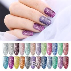 24 Bottles 10ml LED Nail Art UV Gel Polish Soak Off Glitter Starry Varnish Tools