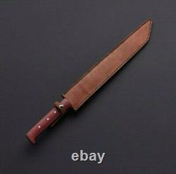 25 Inches Custom Handmade Beautiful D2 Tool Steel Hunting Machete Sword