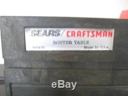 26+ Piece Set CRAFTSMAN 1-1/2 HP Router Table Bits Manuals Miter Guide GREAT UC