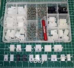 287pcs Molex 2-15 Pin 14A Connector Kit 0.093, Wire Gauge 14-22 AWG with Tools
