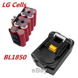 2X 18V 5,0Ah Makita BL1850 B BL1830 Li-ion akku BL1815N BL1850 BL1860 LXT400 DE
