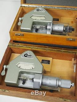 2pc/Lot Cary Dial Comparator Bench Micrometer Watchmakers Uhrmacher Mikrometer