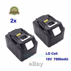 2x 18V 7,5Ah Akku für Makita BL1830 BL1840 BL1850 BL1875 LG Zelle Li-Ion DE Neu