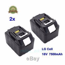 2x 18V 7,5Ah Makita Akku BL1830 BL1840 BL1850 BL1860 LG Zelle Li-Ion Ersatzakku