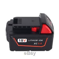 2x 5.0Ah 18V Replace Battery for Milwaukee M18 XC 48-11-1815 M18B2 M18B4 M18BX