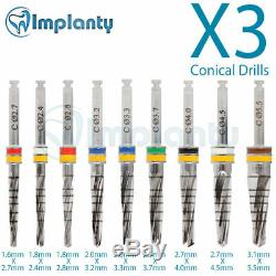 3 Conical Drills External Irrigation For Dental Implant Surgery Tool Instrument