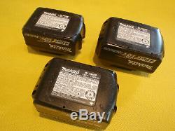3 X USED GENUINE MAKITA BL1840B 18V 4.0Ah LI-ION CORDLESS TOOL BATTERY PACK