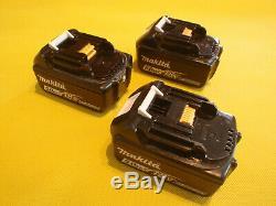 3 X USED GENUINE MAKITA BL1850B 18V 5.0Ah LI-ION CORDLESS TOOL BATTERY PACK