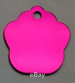 300 Hot Pink Pet identification tags Anodized Aluminum Laser blank wholesale