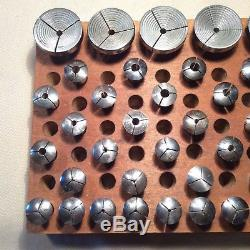 31 VINTAGE (8 mm. /ww) WWHITCOMB WATCHMAKER'S LATHE COLLETS + 5 STEP COLLETS