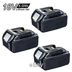 3X Brand-New Makita 4.0Ah 18v Li-Ion Battery BL1840 for LXT drill saw AU Stock