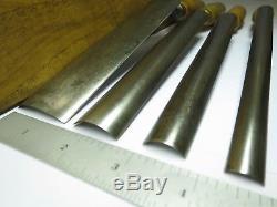 4 Buck Bros, Made in England, Crank-Neck Gouge Pattern makers Chisel Set