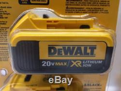 (4) DEWALT DCB204 20V Max XR 4-AH Lithium-Ion Cordless Batteries with Fuel Gauge