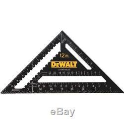 (4)-DeWalt 12 Aluminum Premium Saw Guide Rafter Square DWHT46032
