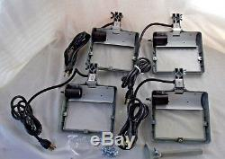 (4) Thor Power Tool Co Lighted Grinder Eye Shields # 74367 Nos With Mounts