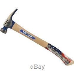 (4)-Vaughan 19 Oz BlueMax California 17 Wood Handle Framing Hammer CF2HC
