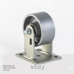 4 x 2 Swivel Casters Steel Wheel with Brake (2) Rigid (2) 700lb ea Tool Box