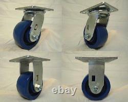 4 x 2 Swivel Casters with Solid Polyurethane Wheel (2) Rigid (2) 700lb Tool Box