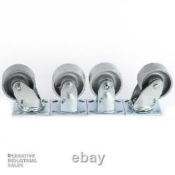 4 x 2 Swivel Casters with Steel Wheel (2) Rigid (2) 700lb ea Tool Box