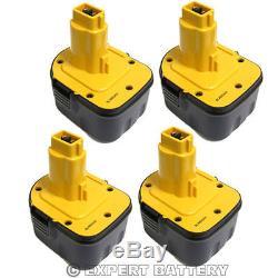 4 x 3000mAh 12V Battery For Dewalt DE9074 DE9075 DW9071 DW9072