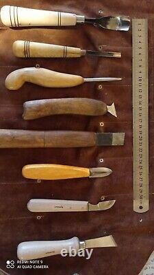 46PCS Wood Carving Tools Hand Chisel Kit Set Woodworking Professional Gouges