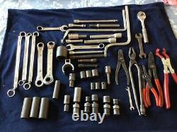 48 piece lot of mostly Snap-on, and Mac tools some blue point, proto and worth t-4